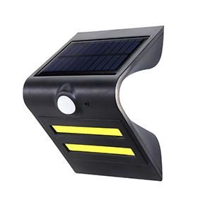 1.5W Solar Sensor LED wall light Black