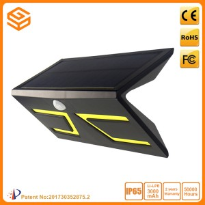 5W LED inteligente solar y lnductive pared Negro Luz