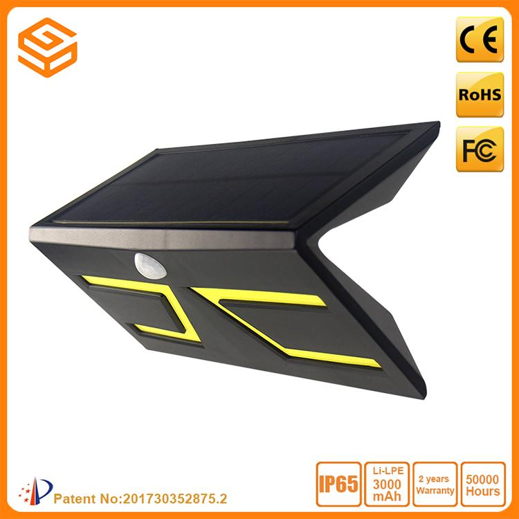 5W Smart LED Solar&lnductive Wall Light Black