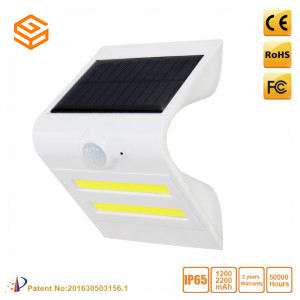 1.5W Solar Sensor LED wall light White