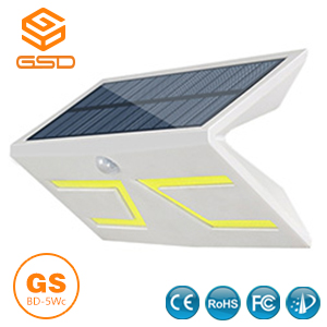 5W Smart LED Solar & lnductive Wandleuchte Weiß